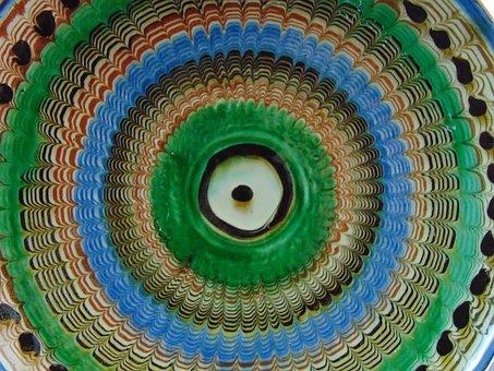 Horezu, Pottery, Organic Colors, Romania, Painting