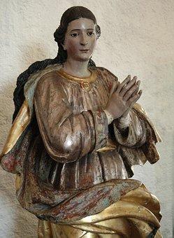 Angel, Baroque, Church, Statue, Religious, Religion