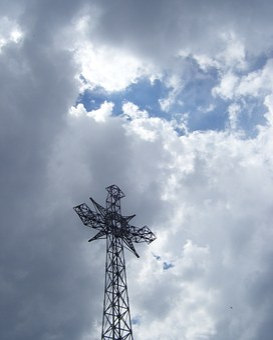 Cross, Giewont, Mountains, Sky