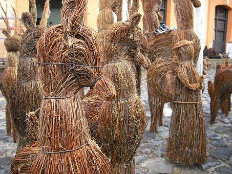 Mexico, Figures, Tradition, Horses, Ornament, Handcraft