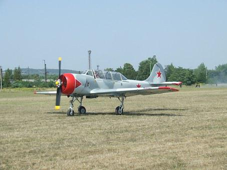 Aircraft, Airport, Yak-52, Trainer Aircraft