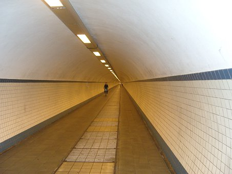 Antwerp, Bike, Tunnel, Building, Architecture, Belgium