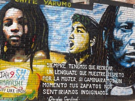 Women, Portrait, Feminism, Graffiti