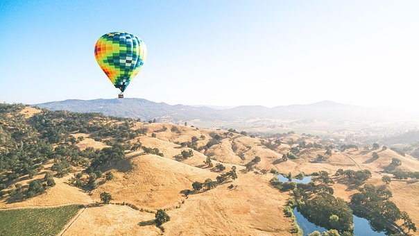 Adventure, Balloon, Flying, Hills, Hot Air Balloon