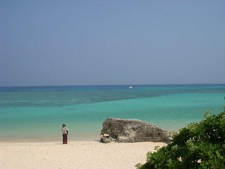 Okinawa, Japan, Blue, Sea, Hateruma Island, Beach