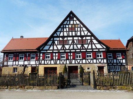 House, Fachwerkhaus, Farmhouse, Hof, Farm, Building
