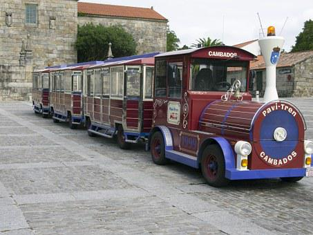 Tourist Train, Walk, Cambados, Holiday, Excursion