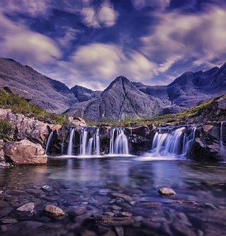 Cascade, Cloudy, Environment, Falls, Lake, Landscape