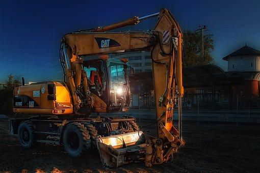 Construction Machine, Excavators, Site, Catapillar