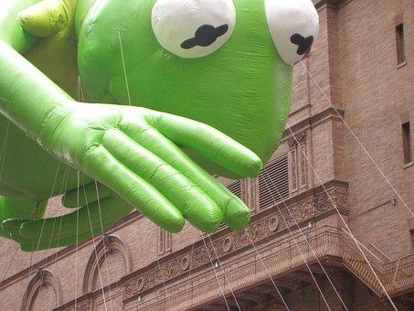 Kermit, Thanksgiving Day, Parade, Balloons