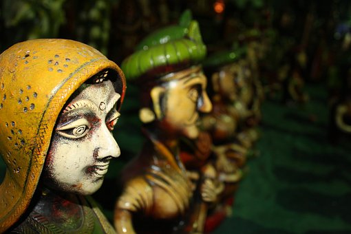 Green, Ceramic, Statue, Model, Clay, Colorful, Indian