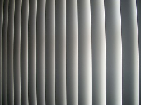 Curtain, Plastic, Pvc, Gray, Blinds, Vertical