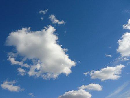 Clouds, Sky, Blue, Weather, Cloudscape, Cumulus, Fluffy