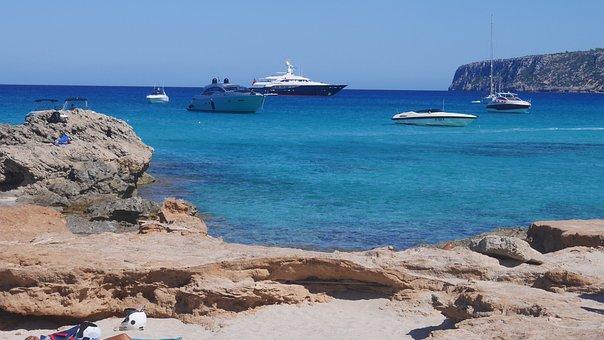 Ibiza, Beach, Yachts