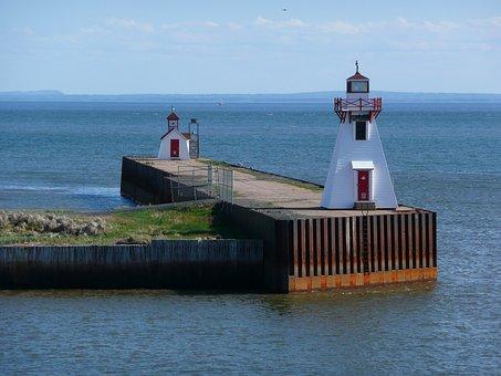 Lighthouse, Beacon, Coast, Navigation, Landmark