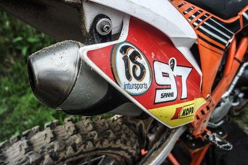 Motor, Motocross, Exhaust, Wheel, Band, Cross, Dirt