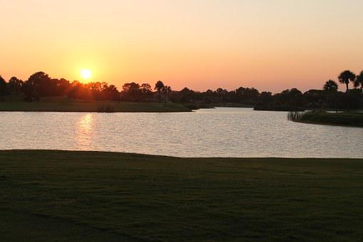 Sunset, Ponte Vedra, Beach, Golf Course, Florida