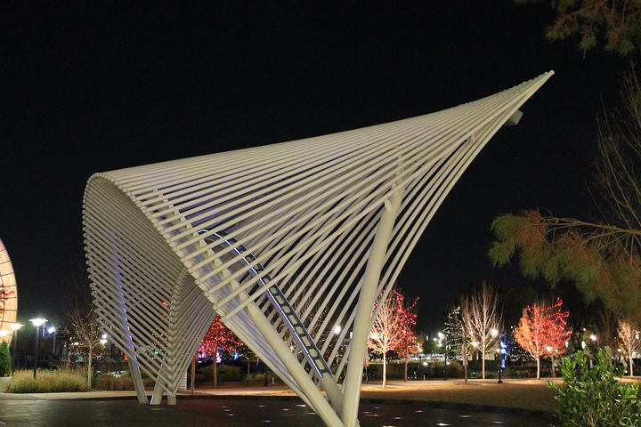 Geometric, Art, Myriad Garden, Oklahoma City, Oklahoma