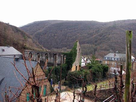 Ahr Valley, Marienthal, Winery, Ruin