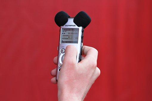 Sound, Micro, Sound Recording, Hand, Microphone, Audio