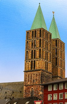 Kassel, At The Stern, Tower, Sky, Church, Building