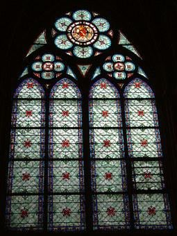 Paris, Notre Dame, Stained Glass Window, France