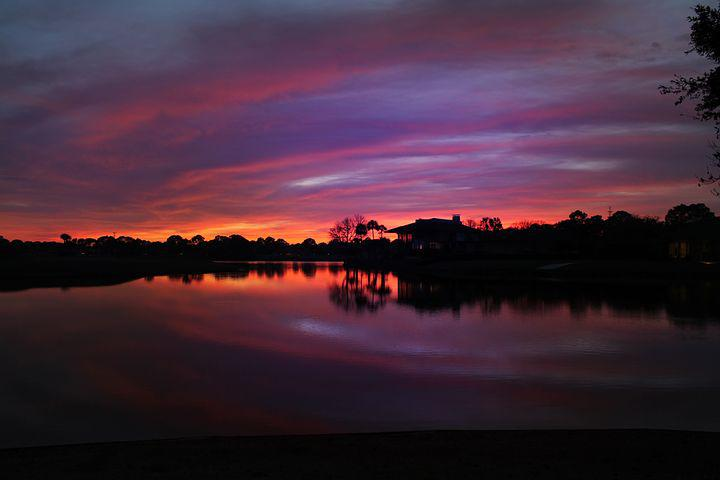 Sunset Over The Golf Course, Ponte Vedra Beach, Florida