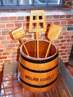 Beer, Brewery, Tools, Barrel, Wood, Tree, Very Old