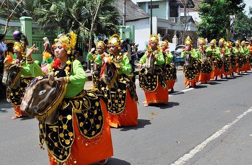 Dance, Festival, Traditional, Lumajang, City, Tomcat