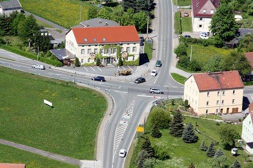 Spitzkunnersdorf, Junction, Aerial View, Upper Lusatia