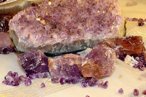 Mineral, Amethyst, Violet, Dark Purple, Quartz