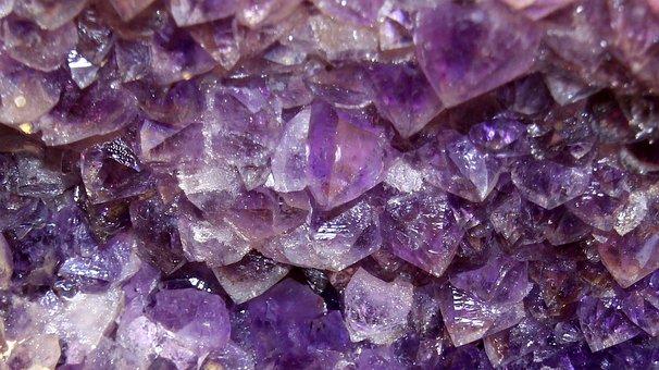 Amethyst, Semi Precious Stone, Violet, Blue, Minerals