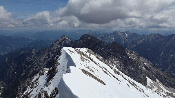 Zugspitze, Cornice, Arête, Ridge, Rock Ridge