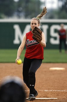 Softball, Girls, Athlete, Ball, Game, Sport, Female
