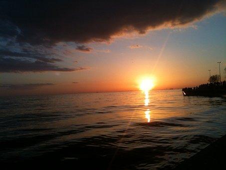 Beach, Marine, Boats, Landscape, Blue, Ship, Chestnut