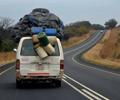 Transport, Bus, Overloaded, Zimbabwe, Africa
