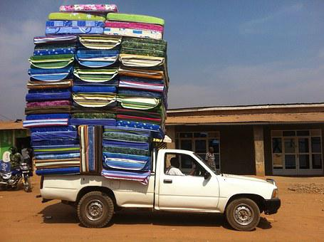 Car, Market, Mattress, Full, Overfull, Rwanda, Load