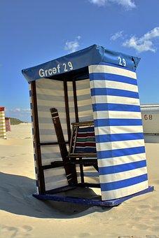 Beach, Chair, Germany, Borkum, Travel, Sea, Sand