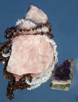 Rose Quartz, Gems, Jewellery, Decoration, Amethyst