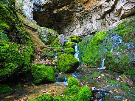 Elsach, River, Falkensteiner Cave, Baden Württemberg