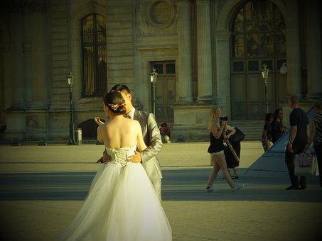 Wedding, Louvre, France, Europe, Love, Paris, Romance