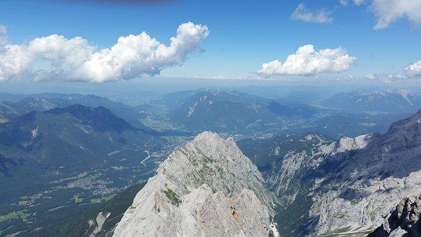 Alps, Zugspitze, Mountain, Germany