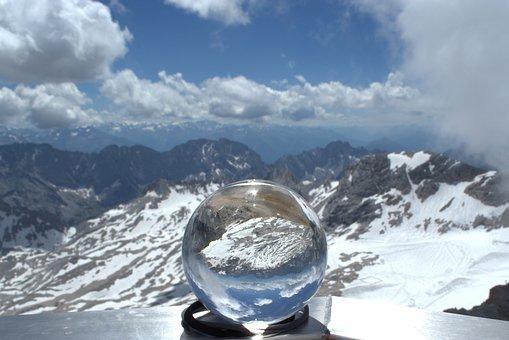 Zugspitze, Glass Ball, Globe Image, Glacier, Garmisch