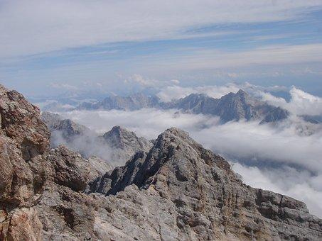 Clouds, Summit, Rock, Allgäu, Holiday, Hiking, Garmisch