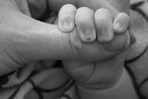 Baby, Hands, Holding Hands, Caring Hands, Mother
