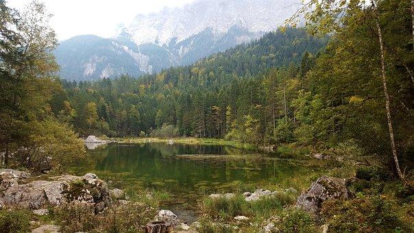 Nature, View, Garmisch, Eibsee, Mountains, Landscape