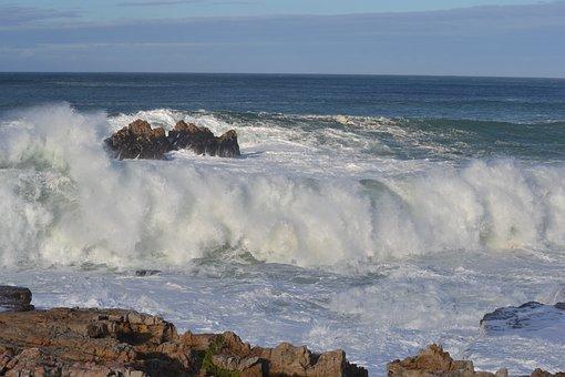 Ocean, Waves, Overload, Rocks, Nature