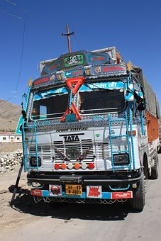 Truck, India, Overloaded, Carriage Of Goods, Vice