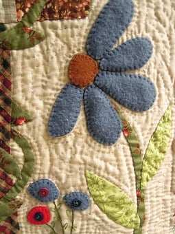 Fabric Flower, Patchwork, Work, Sewing, Fabrics