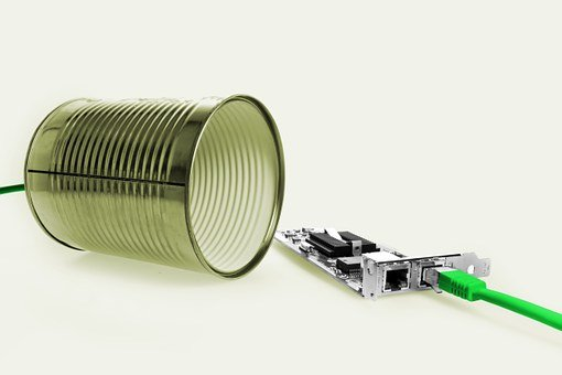 Canned Phone, Box, Cable, Funny, Fun, Phone